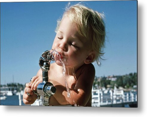 Child Metal Print featuring the photograph Cooling Off by Randy Sprout
