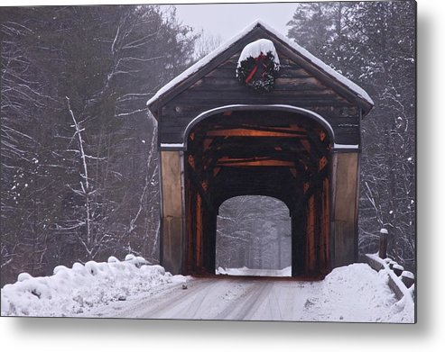 Bridge Metal Print featuring the photograph Corbin Covered Bridge by James Walsh