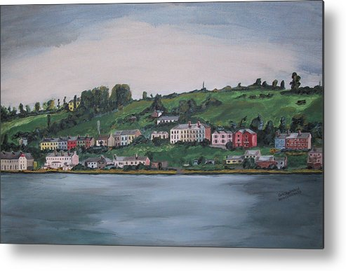 Landscape Metal Print featuring the painting Cork City Ireland by Kevin Callahan