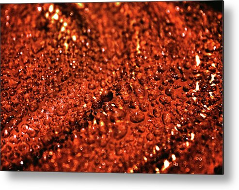 Abstract Metal Print featuring the photograph Cosmic Waters by Christopher Phelps