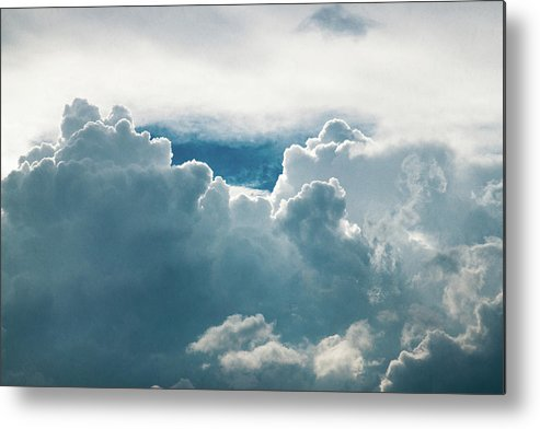 Clouds Metal Print featuring the photograph Cotton Clouds by Marc Wieland