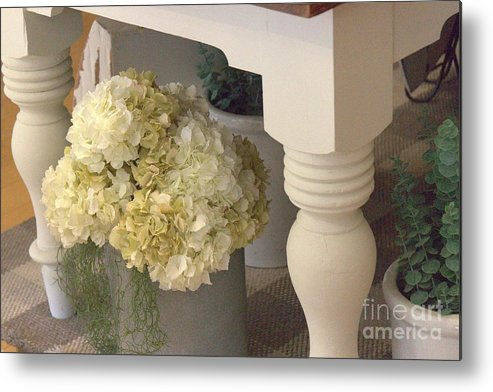 Flowers Metal Print featuring the photograph Country Decor by Paulette Thomas