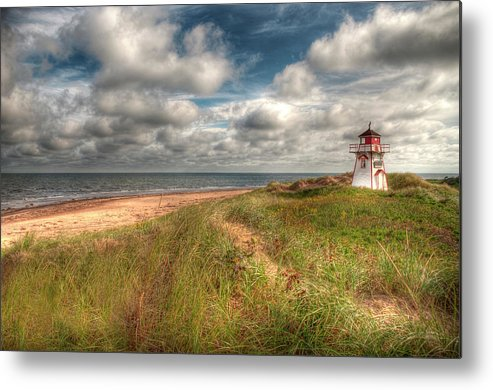 Covehead Metal Print featuring the photograph Covehead Lighthouse by Elisabeth Van Eyken