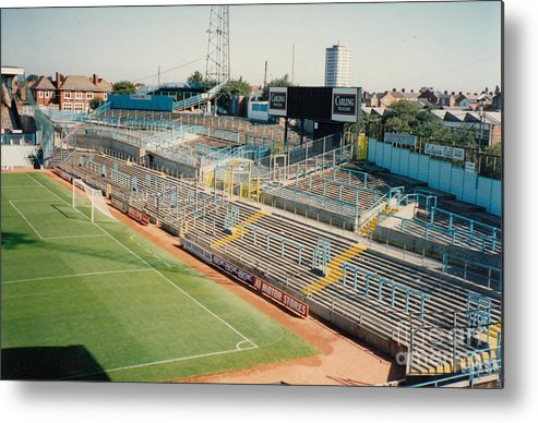 Coventry City Metal Print featuring the photograph Coventry City - Highfield Road - East Stand Swan Lane 2 - August 1991 by Legendary Football Grounds