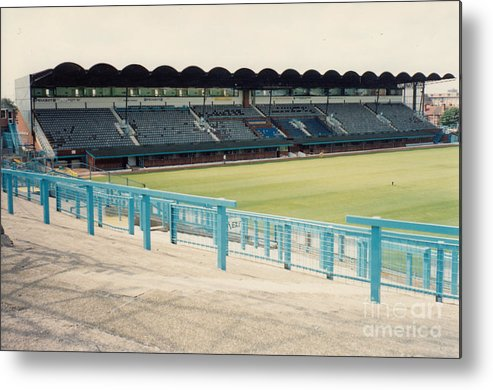 Coventry City Metal Print featuring the photograph Coventry City - Highfield Road - South Side Main Stand 2 - August 1991 by Legendary Football Grounds