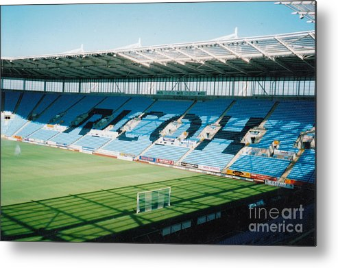 Coventry City Metal Print featuring the photograph Coventry City - Ricoh Arena - East Stand 1 - July 2006 by Legendary Football Grounds