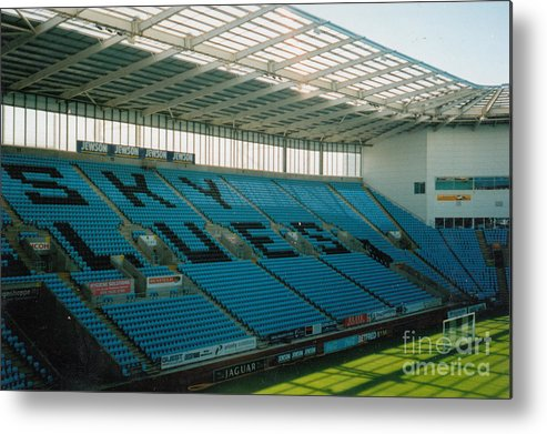Coventry City Metal Print featuring the photograph Coventry City - Ricoh Arena - South Stand 1 - July 2006 by Legendary Football Grounds