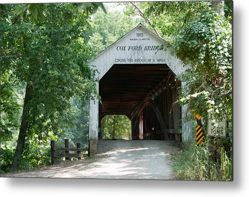 Bridge Metal Print featuring the photograph Cox Ford Bridge by David Arment