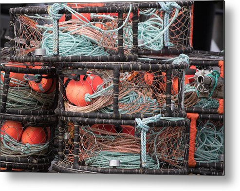 Crab Metal Print featuring the photograph Crab Pots by Deana Glenz