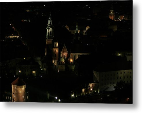 Night Metal Print featuring the photograph Cracow By Night by Marta Grabska