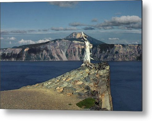 Peaceful Metal Print featuring the photograph Crater Lake - A Most Sacred Place Among The Indians Of Southern Oregon by Christine Till
