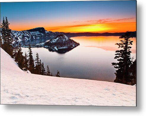 Cascades Metal Print featuring the photograph Crater Lake Dawn by Greg Nyquist