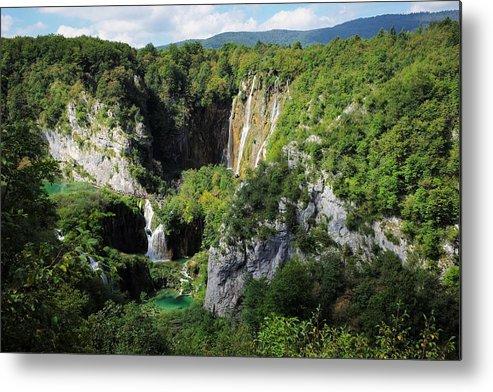 Plitvice Metal Print featuring the photograph Croatias Wonders by Piotr Kuzniar