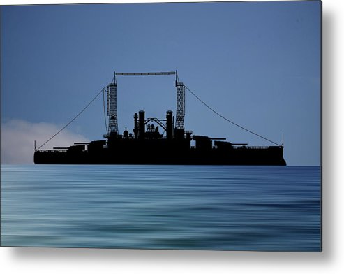 Cus Michigan Metal Print featuring the photograph Cus Michigan 1909 V4 by Smart Aviation
