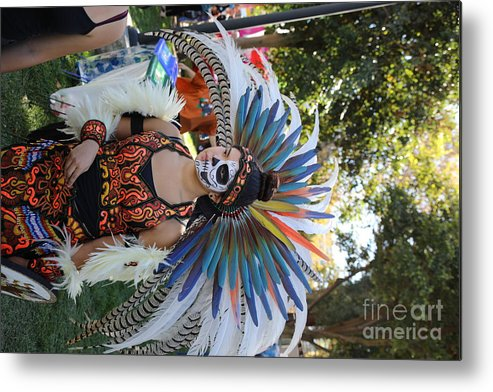 Dia De Los Muertos Metal Print featuring the photograph Dancer Day Of The Dead II by Chuck Kuhn