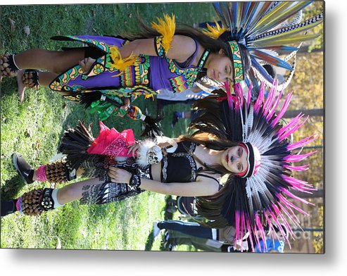 Dia De Los Muertos Metal Print featuring the photograph Dancers Day Of The Dead by Chuck Kuhn