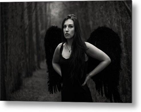 Dark Angel Metal Print featuring the photograph Dark Angel by Brian Hughes