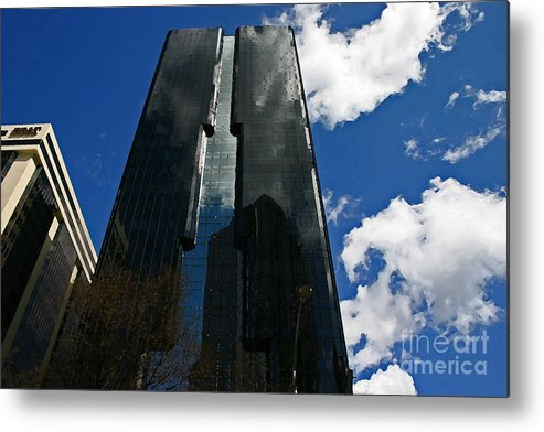 Black Metal Print featuring the photograph Dark Glossy Building by Beebe Barksdale-Bruner