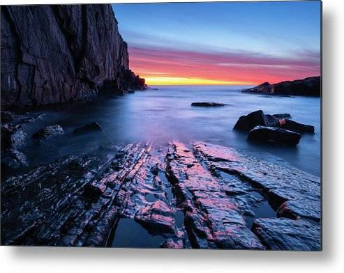 Cape Neddick Metal Print featuring the photograph Dawn On The Rocks by Michael Blanchette