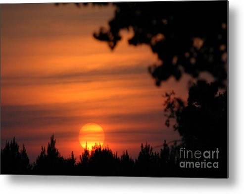 Sunset Metal Print featuring the photograph Day Ending by Maureen Norcross