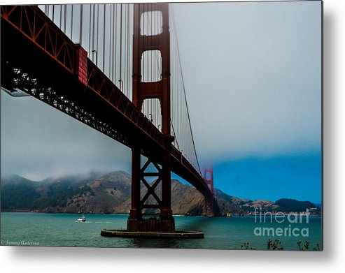Golden Gate Bridge Metal Print featuring the photograph Daybreak At The Golden Gate by Tommy Anderson