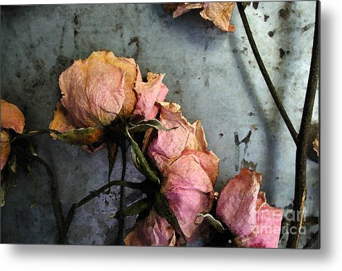 Flower Metal Print featuring the digital art Dead Roses 3 by Kathi Shotwell