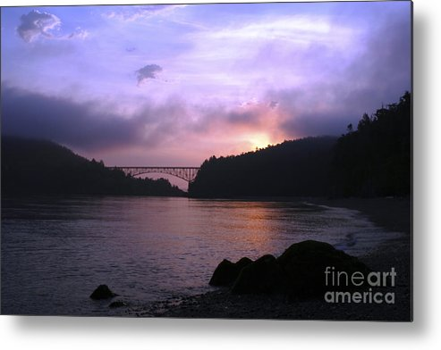 Sunrise Metal Print featuring the photograph Deception Pass Sunrise by Idaho Scenic Images Linda Lantzy