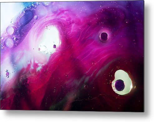 Abstract Metal Print featuring the photograph Deep Purple by Dave Perks