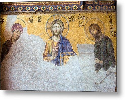 Art Metal Print featuring the photograph Deesis Mosaic Of Jesus Christ by Artur Bogacki