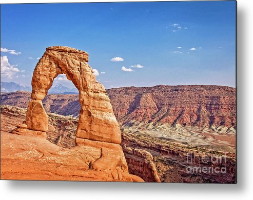 Delicate Arch Metal Print featuring the photograph Delicate Arch by Delphimages Photo Creations