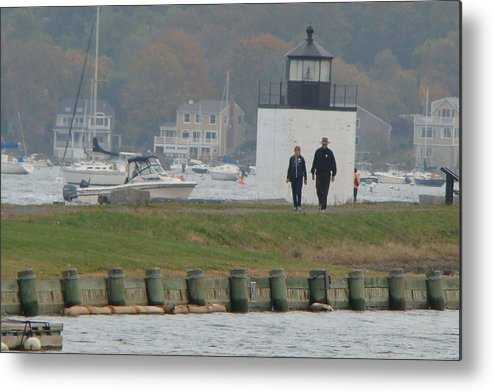 Lighthouse Metal Print featuring the photograph Derby Wharf Light by Chandra Wesson