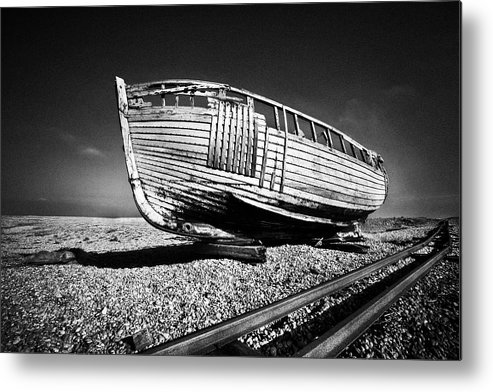 Boat Metal Print featuring the photograph Derelict Boat by David Hare