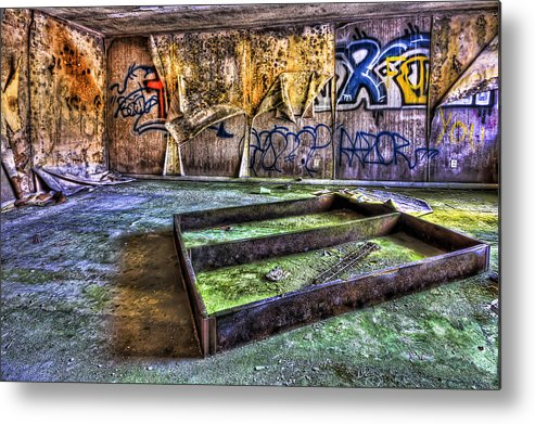 Abandoned Metal Print featuring the photograph Destroya by Evelina Kremsdorf