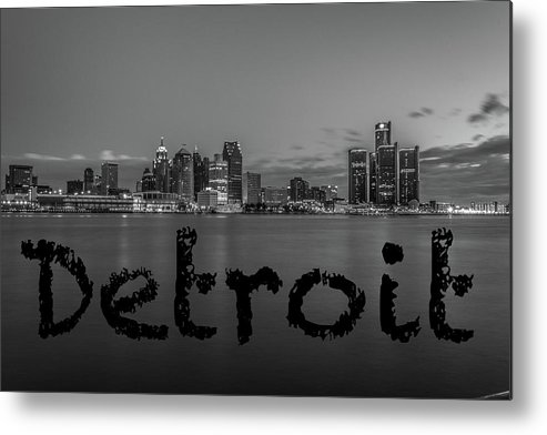 Detroit Metal Print featuring the photograph Detroit City by Pravin Sitaraman