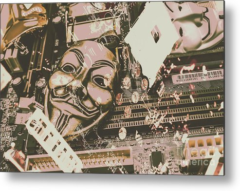 Anonymous Metal Print featuring the photograph Digital Anonymous Collective by Jorgo Photography - Wall Art Gallery