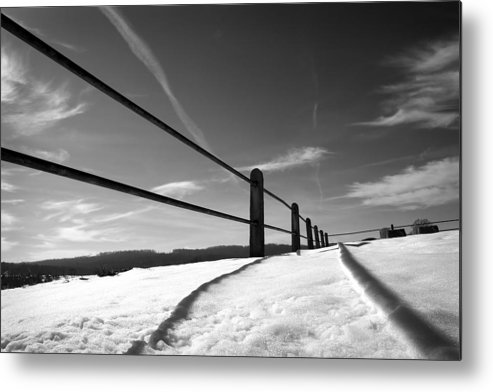 Snow Metal Print featuring the photograph Divisions by Kevin Brett
