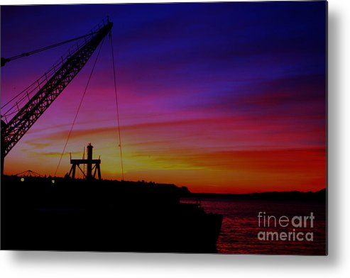 Dock Metal Print featuring the photograph Docked By The Bay-sunset by Nick Gustafson