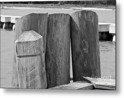 Hilton Head Island Metal Print featuring the photograph Dock's Hold by Marjorie Bazluki