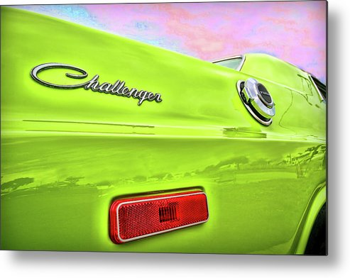 1972 Metal Print featuring the photograph Dodge Challenger In Sublime Green by Gordon Dean II