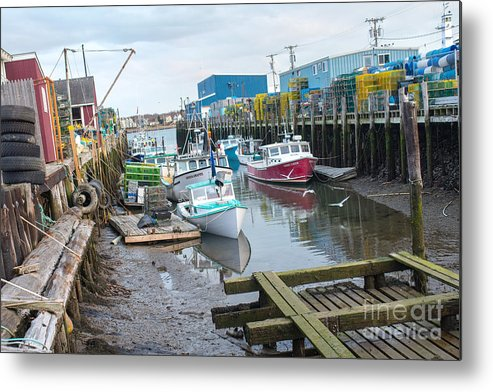 Boat Metal Print featuring the photograph Down At Widgery Wharf by Corey Templeton