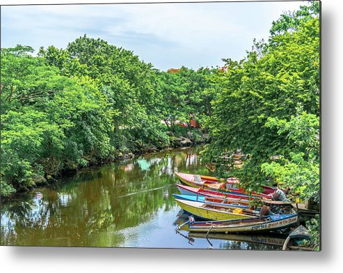 Destinations Metal Print featuring the photograph Down By The River by Debbie Ann Powell