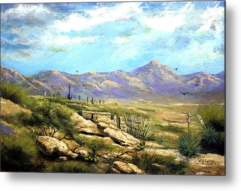 Landscape Metal Print featuring the painting Down Sedona Way by Brooke Lyman