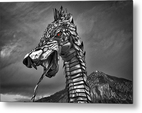 Photography Metal Print featuring the photograph Dragon by Raven Steel Design