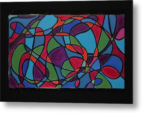 Abstract Metal Print featuring the painting Dreaming Of Matisse by Mary Silver