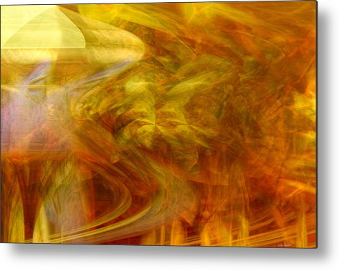Abstract Art Metal Print featuring the digital art Dreamstate by Linda Sannuti