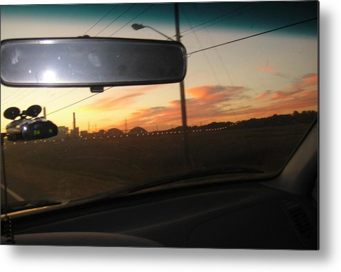 Sunset Metal Print featuring the photograph Driving Red Clouds....... by WaLdEmAr BoRrErO