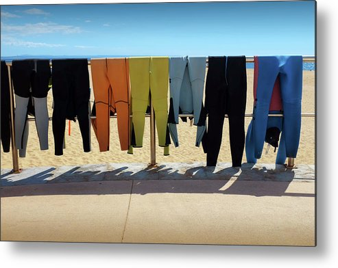 Adventure Metal Print featuring the photograph Drying Wet Suits by Carlos Caetano