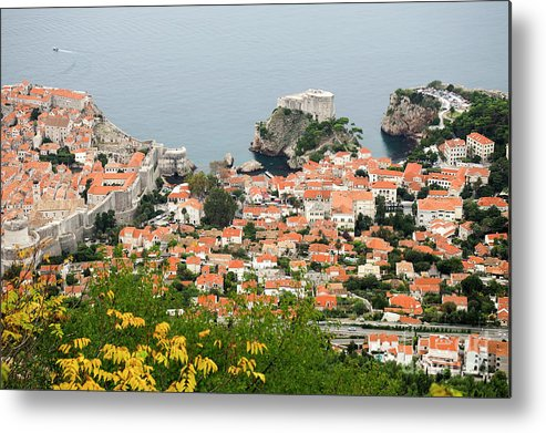 Croatia Metal Print featuring the photograph Dubrovnik, The Walled Old City by Moshe Torgovitsky