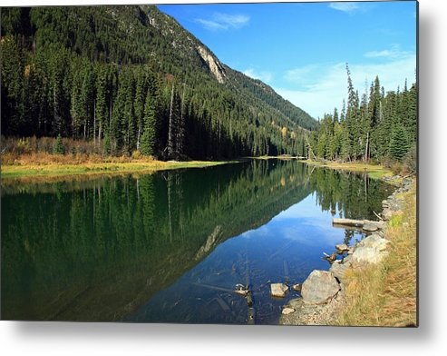Duffey Metal Print featuring the photograph Duffey Lake Reflection by Pierre Leclerc Photography