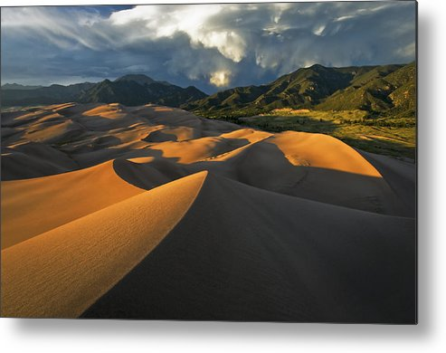 Dunes Metal Print featuring the photograph Dunescape Monsoon by Joseph Rossbach